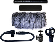 Que Audio Q210 Short Shotgun Microphone Kit for Video Applications