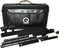 Que Audio QLOC Location Kit with 3 Shotgun Mics, 2 Mounts, Case