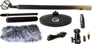 Cue Audio Q Sniper Pro Microphone Kit Mini Shotgun Microphone Kit w/ Shockmount