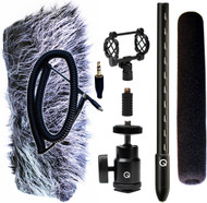 Que Audio QVIDEO-KIT Mini Shotgun Mic Kit for DSLRs with Accessories