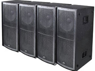 4 PK Peavey QW218 Concert Subwoofers Enclosure Touring and Install Speakers Sub