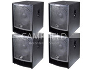4 PK Peavey QW118 Concert Subwoofers Enclosure Touring and Install Speakers Sub