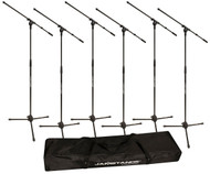 Ultimate Support JS-MCFB6PK Tripod Mic Stands, 6 Pack Free Bag!!