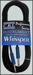 3 Pack CBI Whissper Double Heat 20 Gauge 6ft, 15ft, 20ft Guitar 1/4 to 1/4 Cable