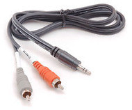 "Hosa CMR-210 Audio Y-Cable, Stereo 1/8"" Male to Dual RCA Male, 10 Fee"