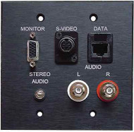 Wall Plate A/V Panel 1 HD15F 2 RCA Mini 3.5 Cat5,