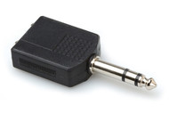 "Hosa GPP-359  Audio Adapter, Dual Stereo 1/4"" Female to Stereo 1/4"" Male"