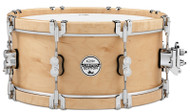 "Pacific Drums PDSX5514NAWH  5.5"" x 14"" 10-Ply SX Natural Wood Hoop Maple Snare Drum"