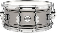 "Pacific Drums PDSN6514BNCR  6.5""x14"" Concept Series Black Nickel Over Steel Snare Drum"