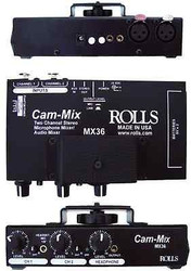 Rolls MX36 Cam-Mix Portable 2-Channel Microphone Mixer
