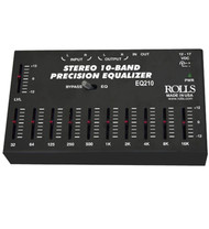 "Rolls EQ210 Stereo Equalizer 10-Band EQ 1/8"" In/Out"