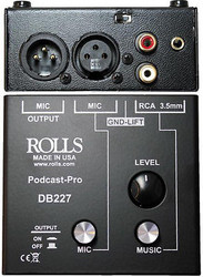 Rolls DB227 Podcast Pro Microphone Source Mixer