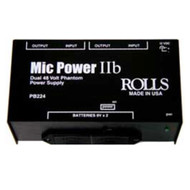 Rolls PB224 Dual Phantom Power Supply, with Battery