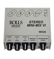 Rolls MX28 3-Channel True Stereo Line Mixer