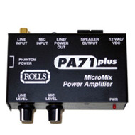 Rolls PA71 7-Watt Mono Power Amplifier, 1 Mic, 1 Line