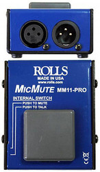 Rolls MM11-PRO Pro Switchable Mic Mute/Talk Professional Microphone Switch
