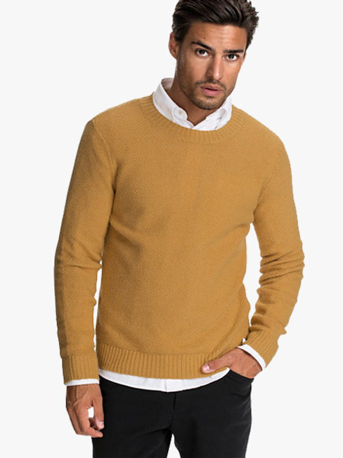 Levi's Solid Men's Polo Neck Yellow T-shirt