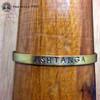 ASHTANGA Brass Sanskrit MantraCuff (100% Handmade / Adjustable)