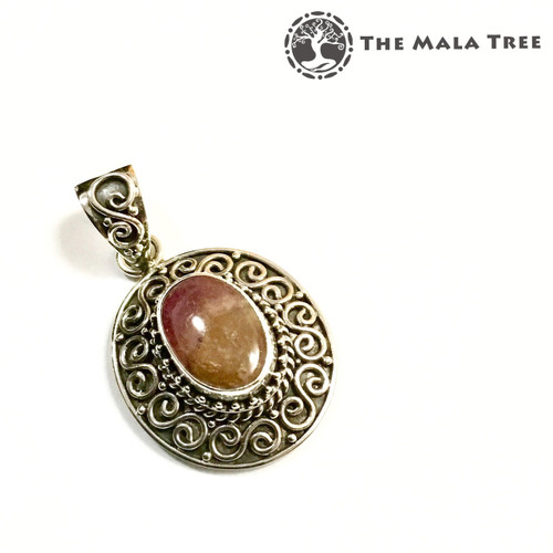 PINK TOURMALINE Lux Pendant 1 (Set in High Quality Silver)