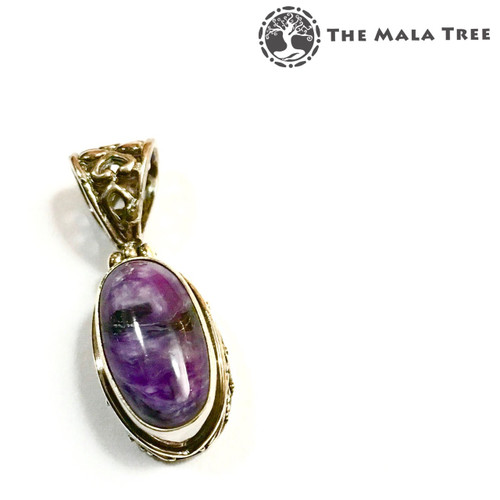 CHAROITE Lux Pendant (Set in High Quality Silver)