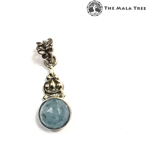 AQUAMARINE WULOU Lux Pendant (Set in High Quality Silver)