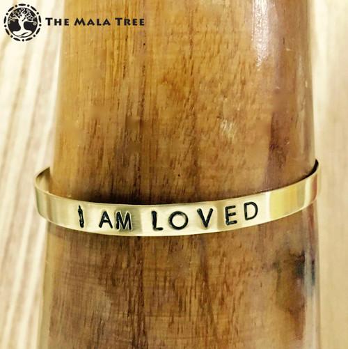 I AM LOVED Brass MantraCuff (100% Handmade / Adjustable)