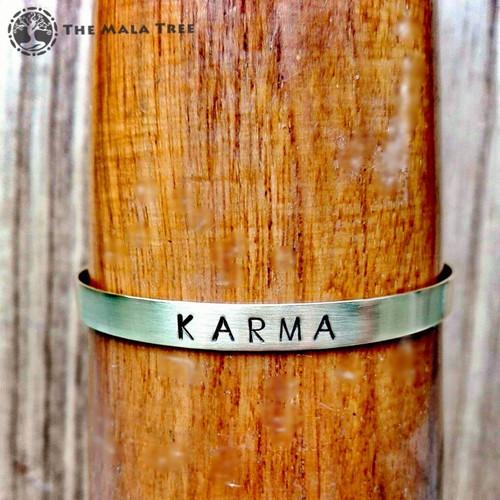 KARMA Brass MantraCuff (100% Handmade / Adjustable)