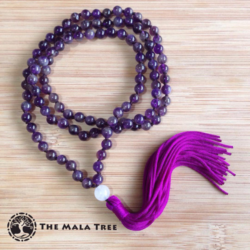 AMETHYST Classic 108 Japa Mala