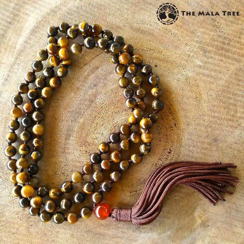 GOLD TIGER'S EYE Classic 108 Japa Mala