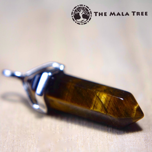 GOLD TIGER'S EYE Double Terminated Pendant