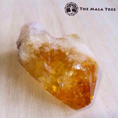 CITRINE Tumbled Point