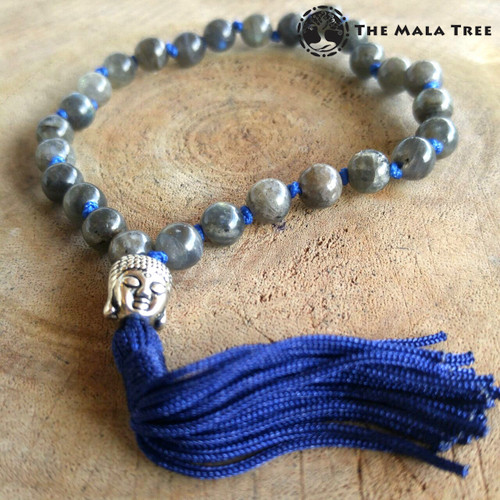 LABRADORITE BLUE FLASH Wrist Mala
