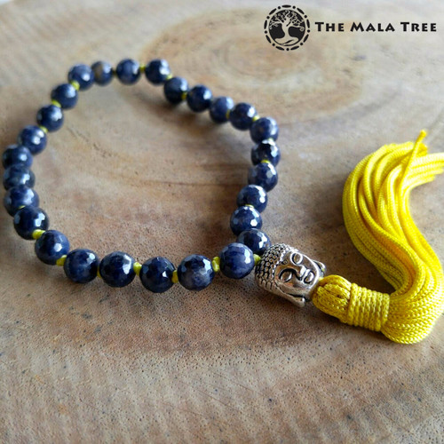 BLUE SAPPHIRE (Faceted) Wrist Mala