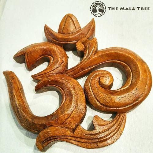 Handcarved Wooden Om Symbol Decor (Limited Stocks)