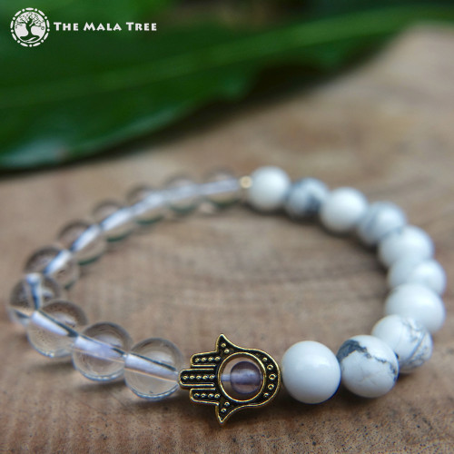 THE CROWN CHAKRA HAMSA Bracelet
