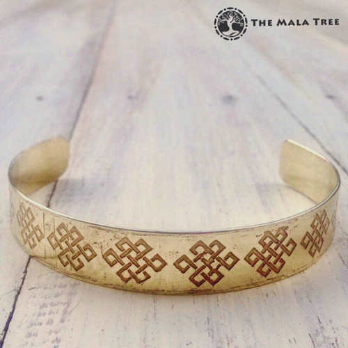 MYSTIC KNOT Brass Healing Bangle (Handmade)
