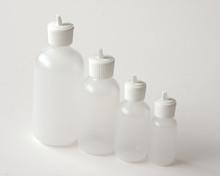 Plastic Bottle 2 oz.  With White Flip Top Cap