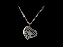 Diffusing Necklace - Lotus Flower Heart