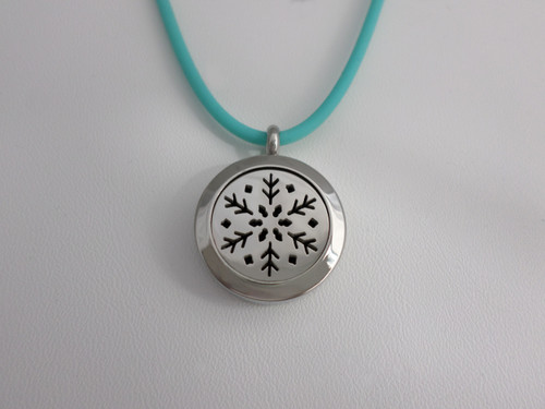Diffusing Necklace - Snowflake - Metal Chain Available