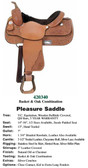 PLEASURE SADDLES TRUE WESTERN STYLE ADE IN THE USA
