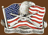 Protect Our American Heritage Belt Buckle,