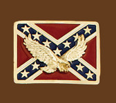 Rebel Eagle Belt Buckle, 2-3/4 x 2