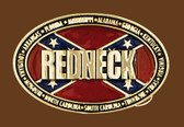 REDNECK Belt Buckle, 3-3/4 x 2-1/2   GOLD