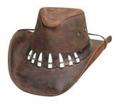 Croc Dundee Crock Teeth Hat - The Spiffy Hat Chocolate