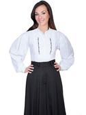 White  Inset Bib Shirt