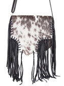 Hair on Calf Knotted Fringe Handbag