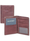 PASSPORT WALLET.  BILL DIVIDER.  CREDIT CARD POCKETS.  VERTICAL POCKETS.  ID WINDOW.  IMPORT.