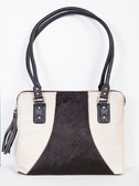 Hair on Calf Black and White Handbag