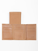 LEATHER THREE-FOLD.  COMPACT 3-FOLD.  BILL DIVIDER SECTION.  CREDIT CARD POCKETS.  IMPORT.