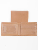 LEATHER BILLFOLD W/ID WINDOW.  BILL DIVIDER.  CREDIT CARD POCKETS.  VERTICAL POCKETS.  ID WINDOW.  IMPORT.